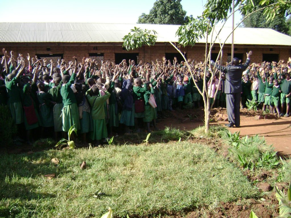 K Pupils of Godown primary school saying yes to Jesus.1